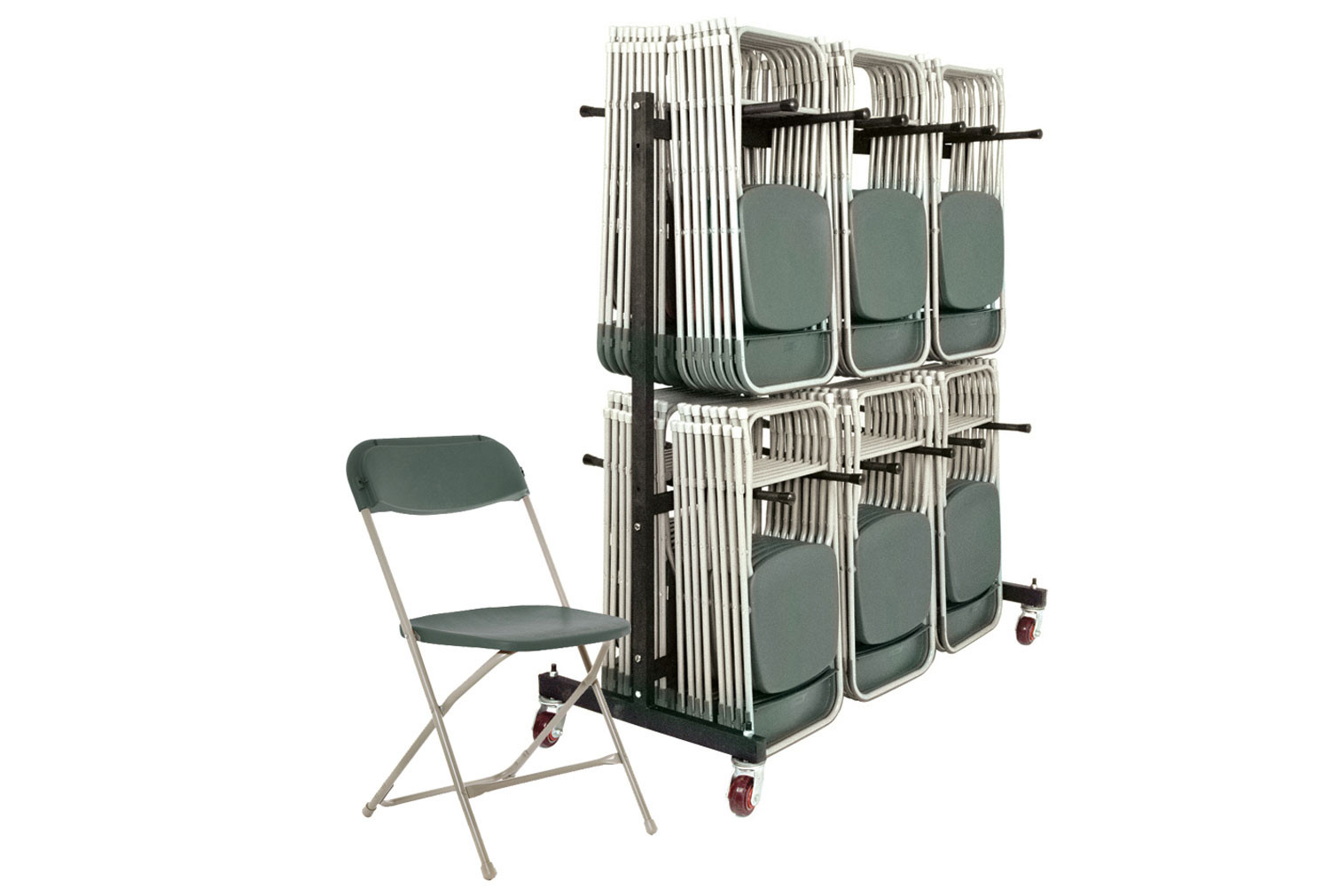 Classic Folding Chair Bundle Deal (168 Chairs & 1 High Trolley)