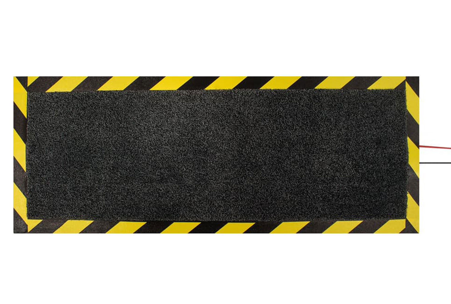 Cable Protector Mat With Hazard Stripe
