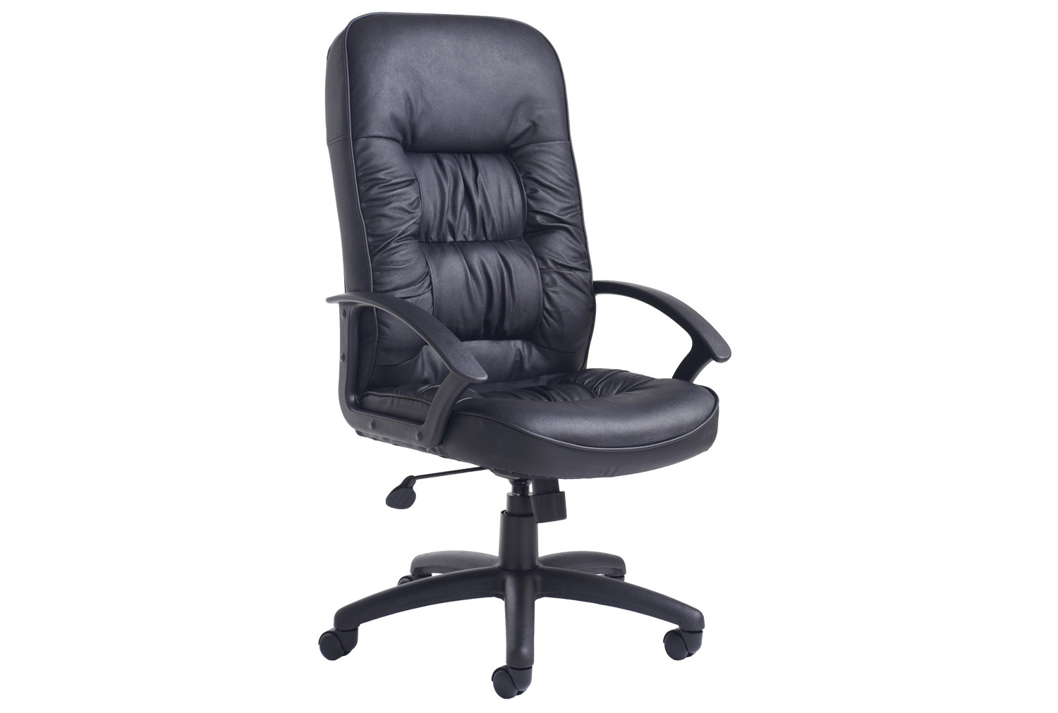 Nero high back leather faced executive chair