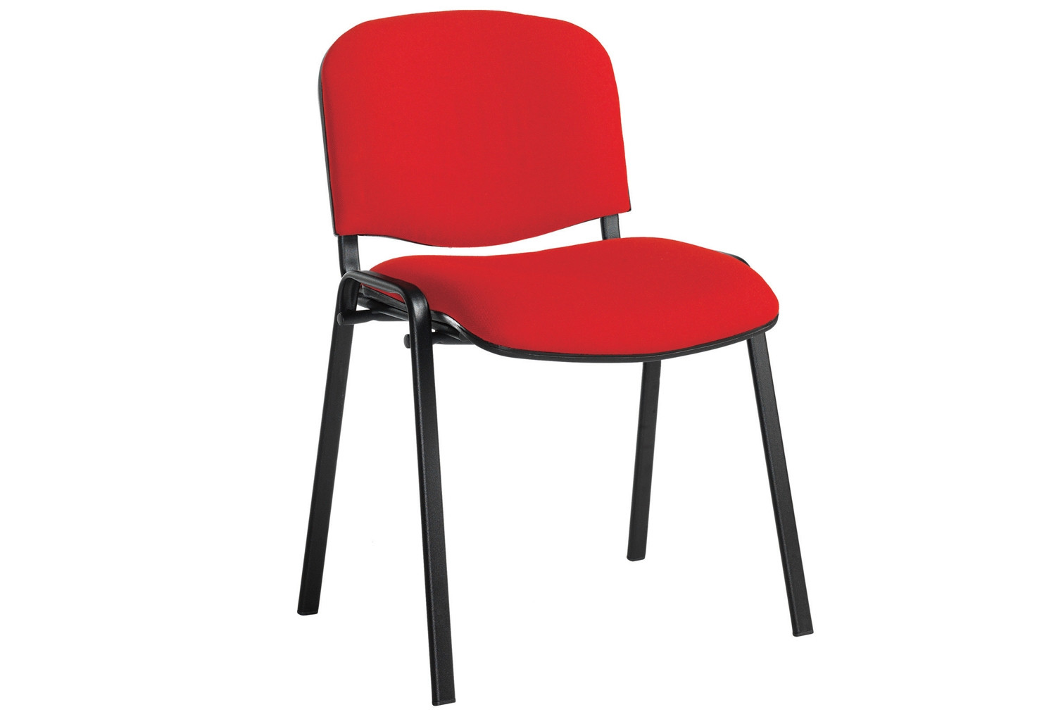 Pack Of 4 Black Frame Conference Chairs