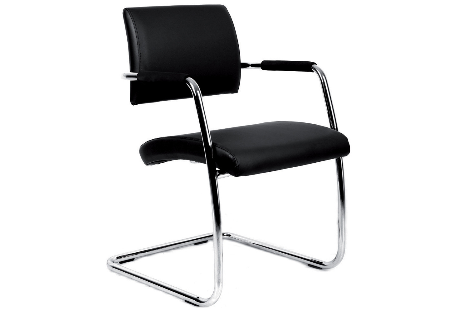 Bruge leather faced visitor chair