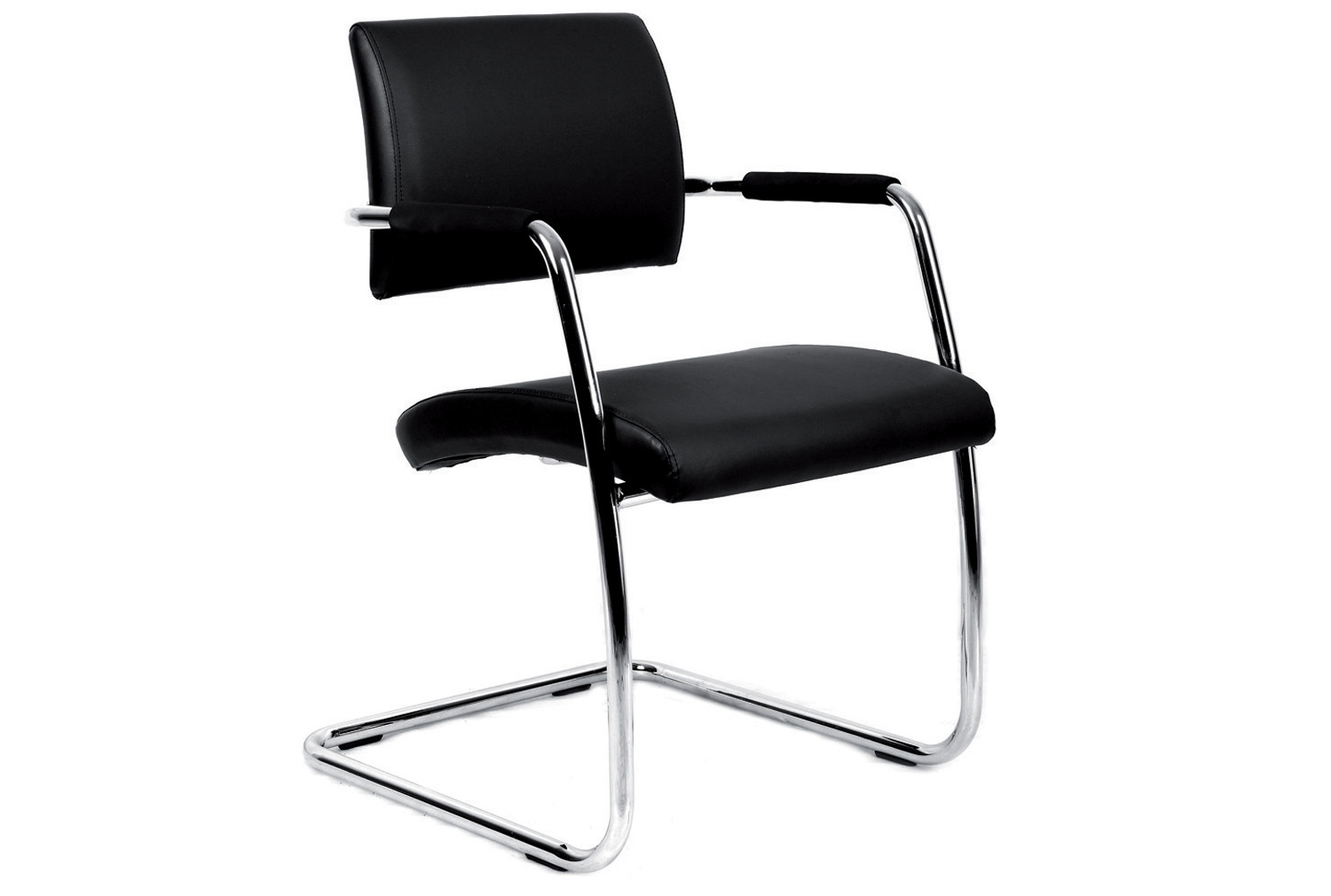 Pack Of 2 Bruge Leather Faced Visitor Chairs