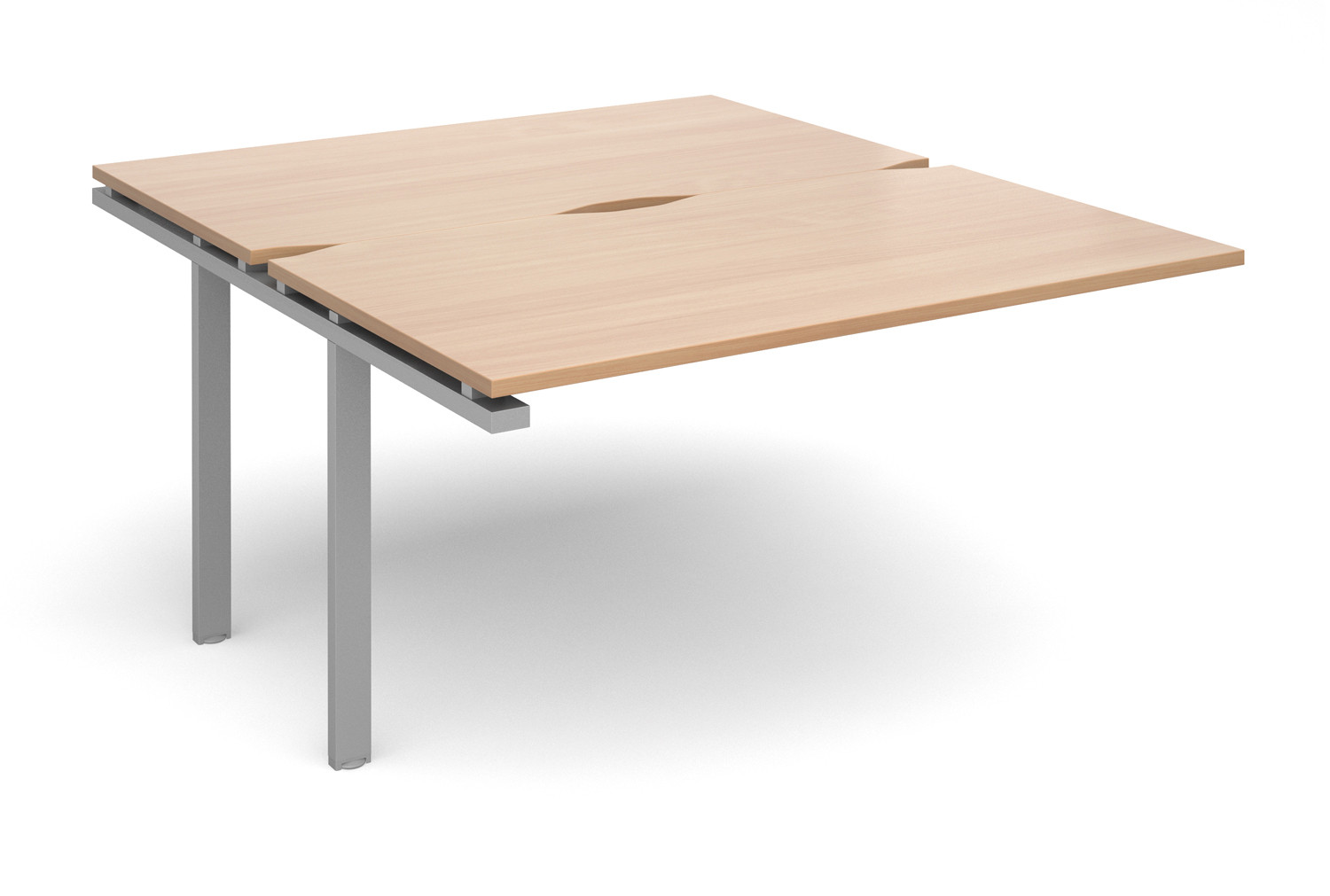 Prime Back To Back Add On Bench Desk (Silver Legs)