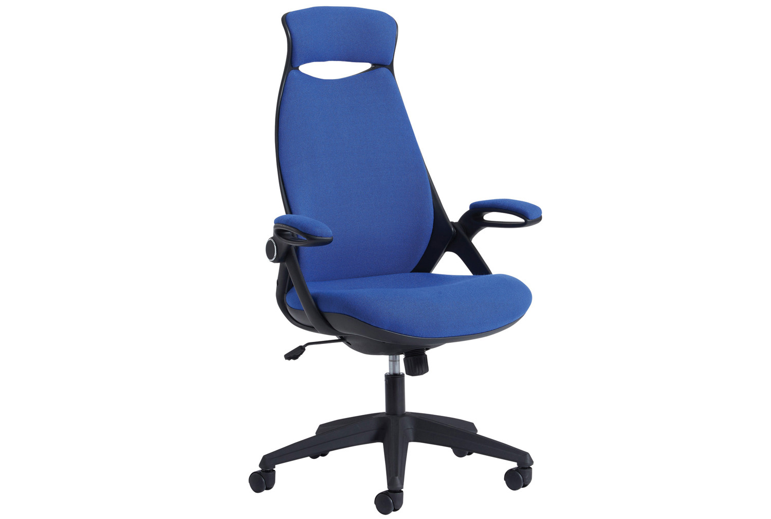 Roche Fabric High Back Managers Chair With Headrest Blue