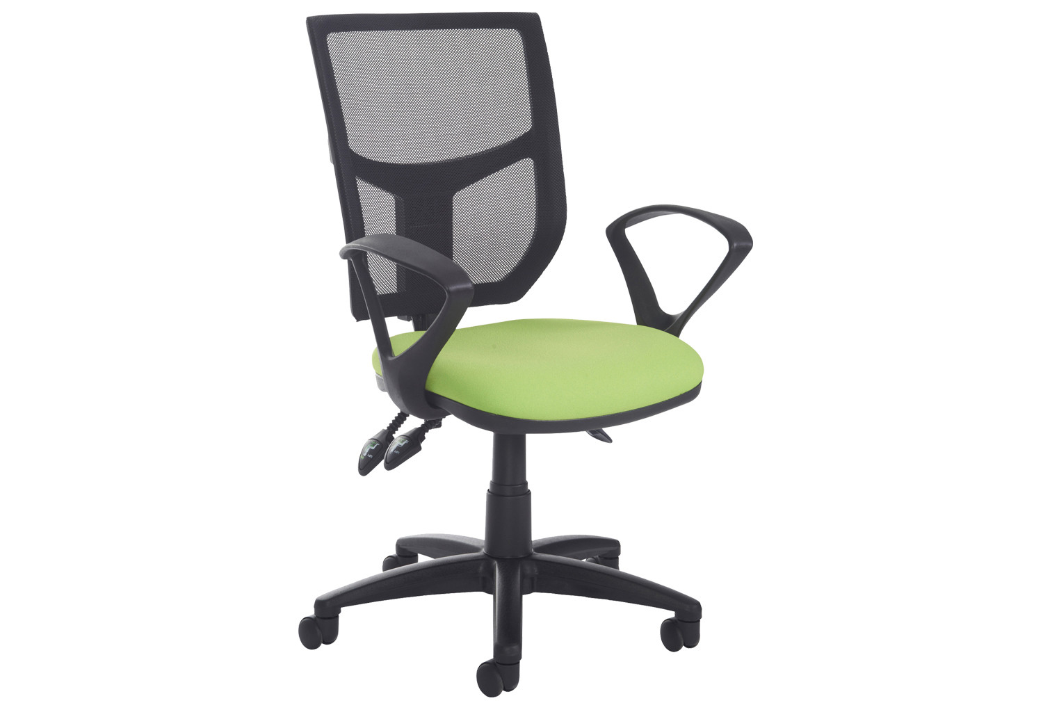 Gordy 2 Lever Mesh Back Operator Chair With Fixed Arms