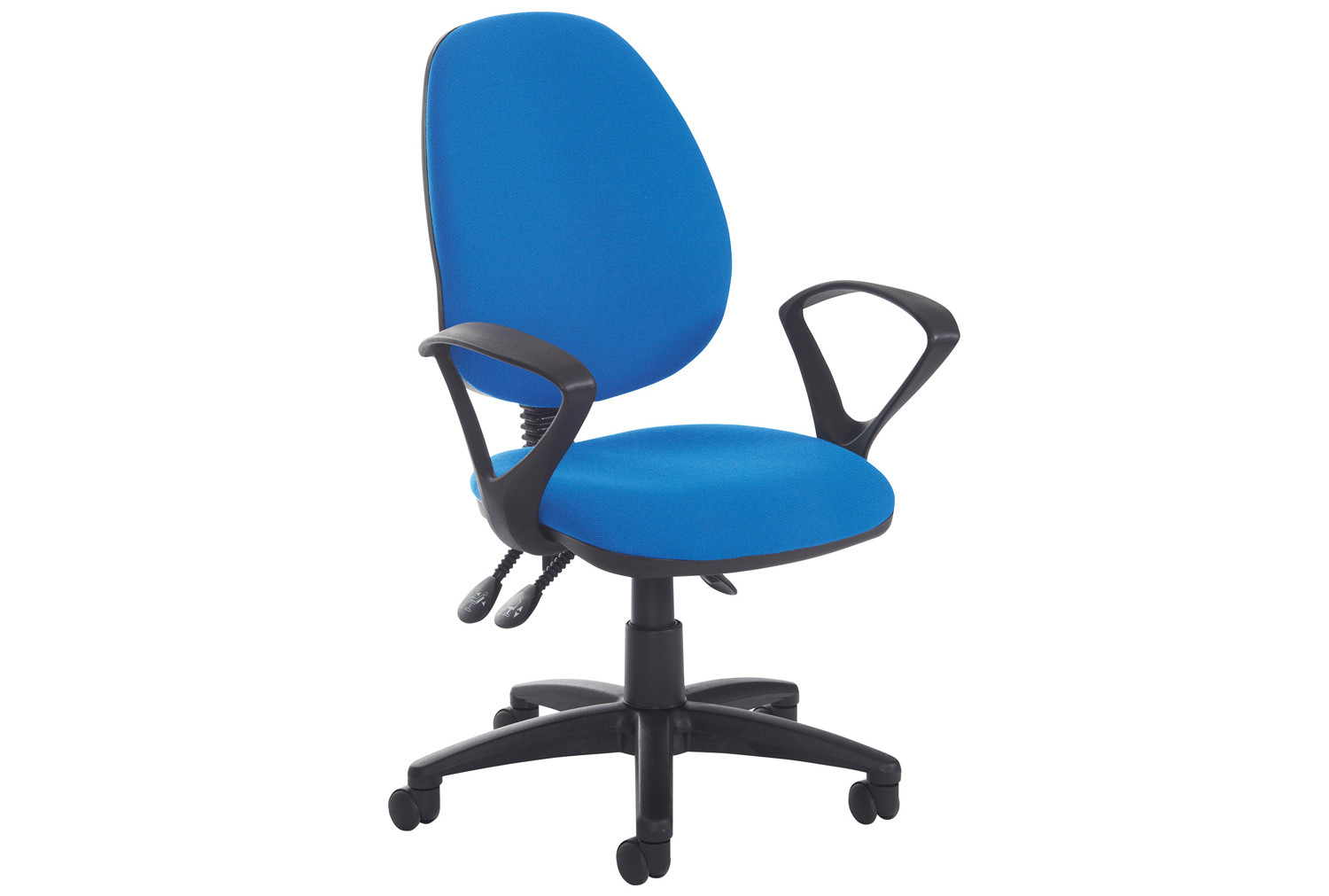 Point High Back Operator Chair With Fixed Arms