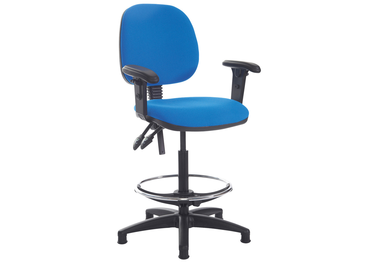 Point Draughtsman Chair With Height Adjustable Arms