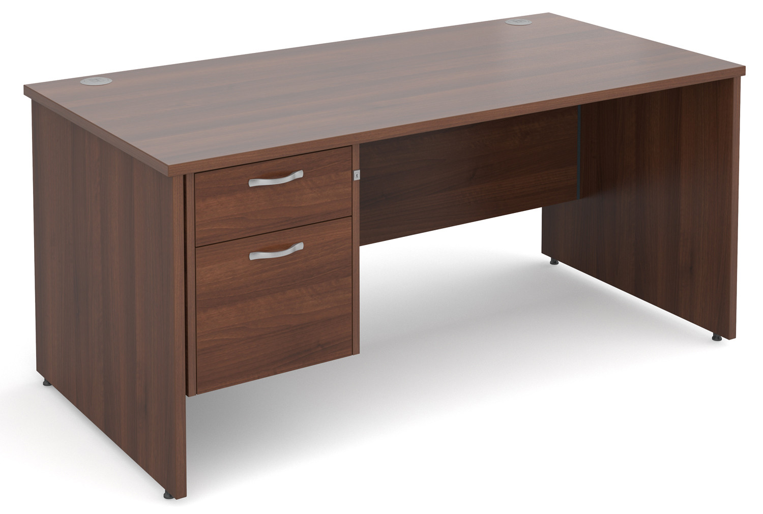 Value Line Deluxe Panel End Clerical Desk 2 Drawers
