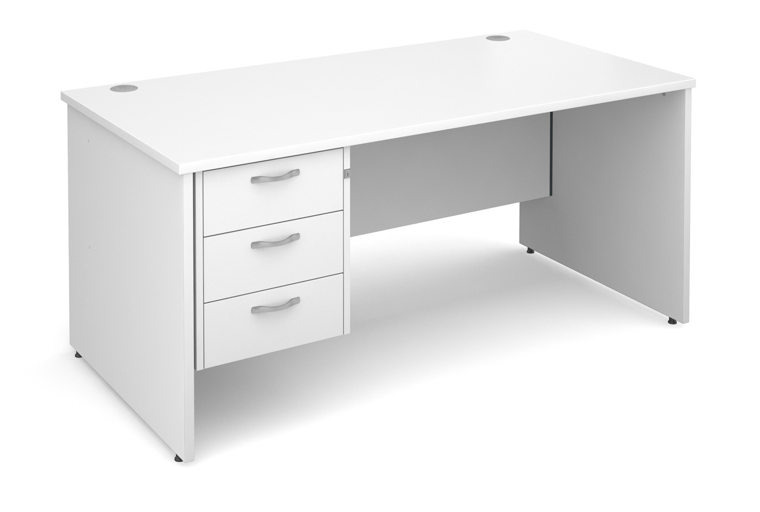 Value Line Deluxe Panel End Clerical Desk 3 Drawers