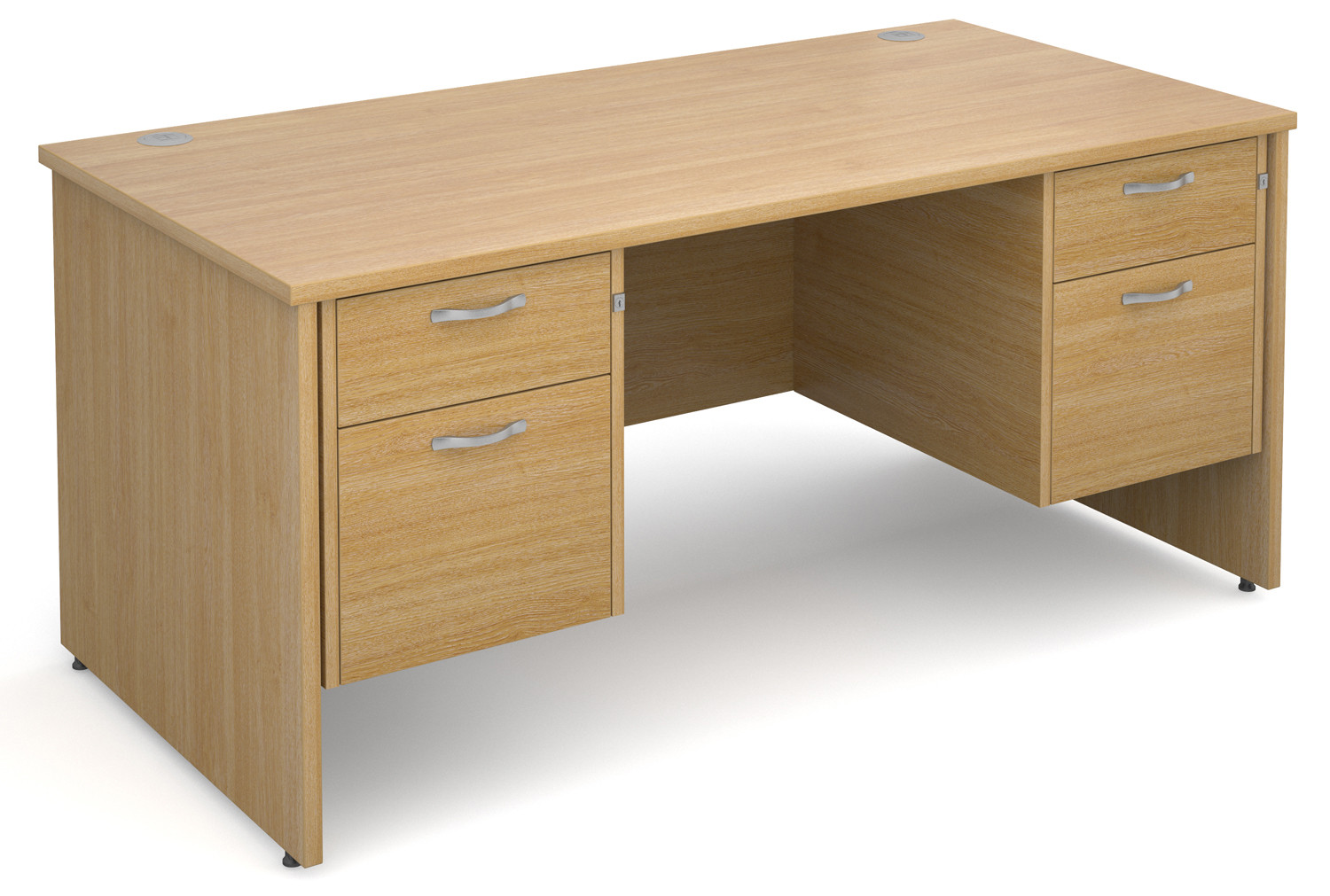 Value Line Deluxe Panel End Desk 2+2 Drawers