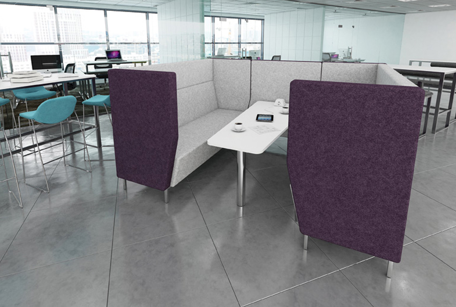 Niche Wide 4 Seater Meeting Pod With Metal Legs