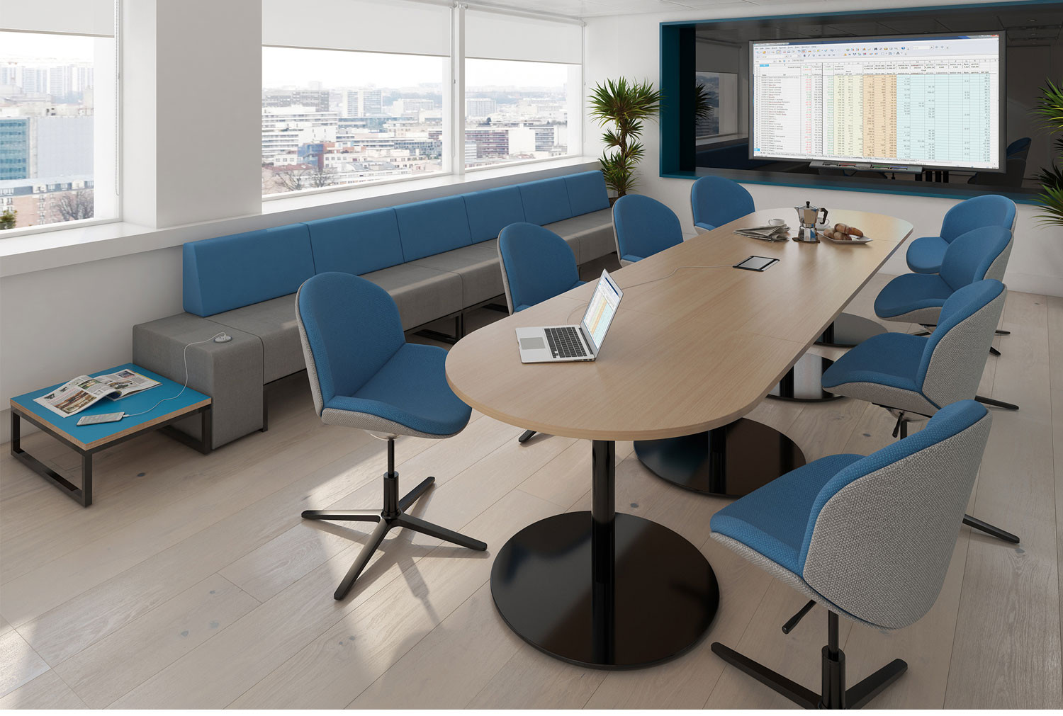 Groovy Constant Radial End Boardroom Table Interior Design Ideas Clesiryabchikinfo
