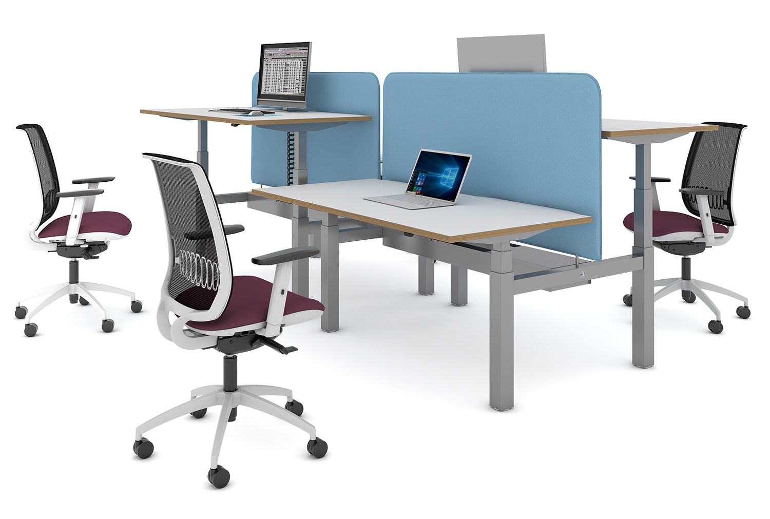 Ascend Deluxe Sit & Stand Back-To-Back Desk