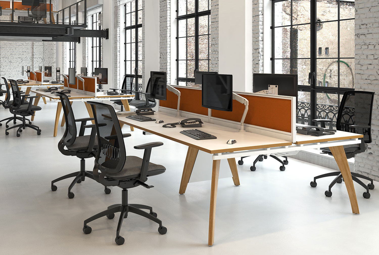 Central Drop Down Cable Tray And Bracket For Distill Bench Desks