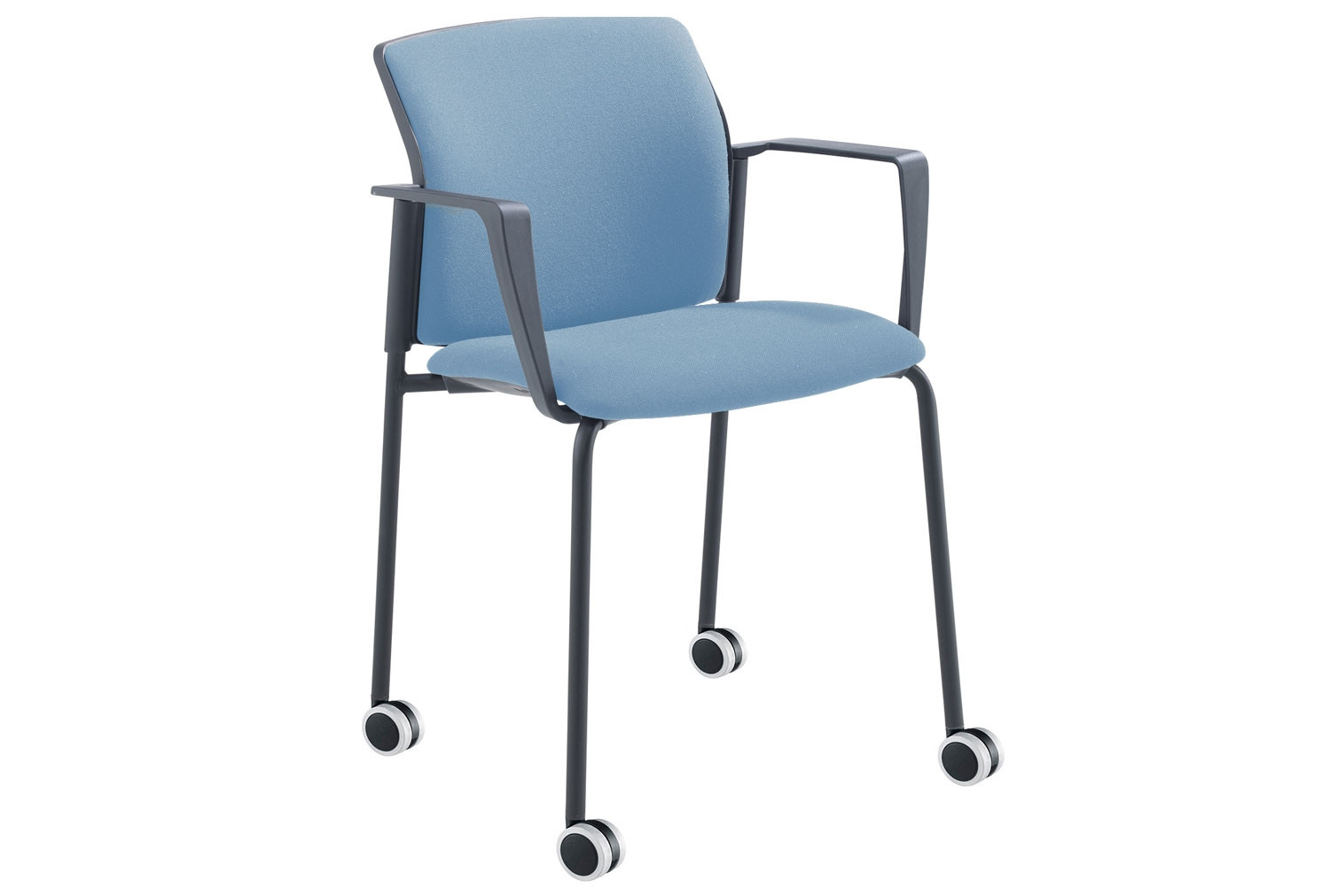 Yarra 4 Leg Mobile Chair With Arms (Black Frame)