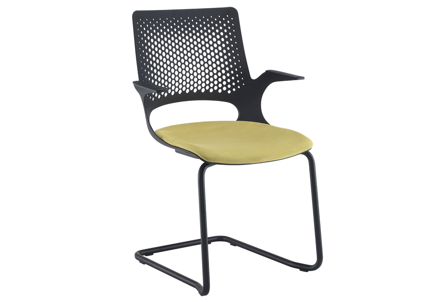 Bourke Visitor Chair With Black Frame And Black Shell