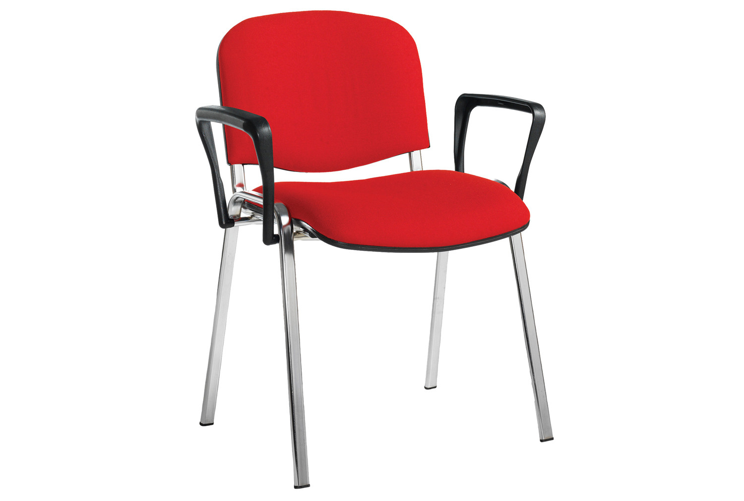 Volta Conference Chair With Arms (Chrome Frame)