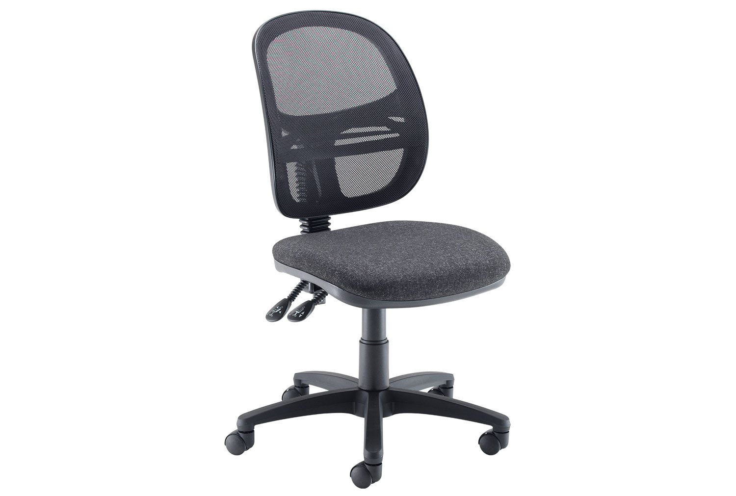 Vantage Mesh Medium Back Operator Chair With No Arms (Charcoal)