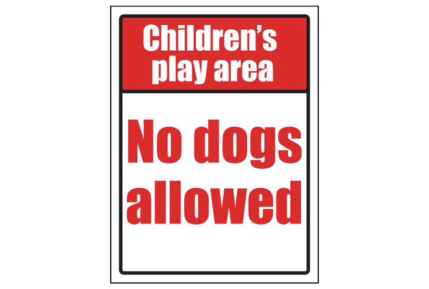 Childrens Play Area No Dogs Allowed School Sign