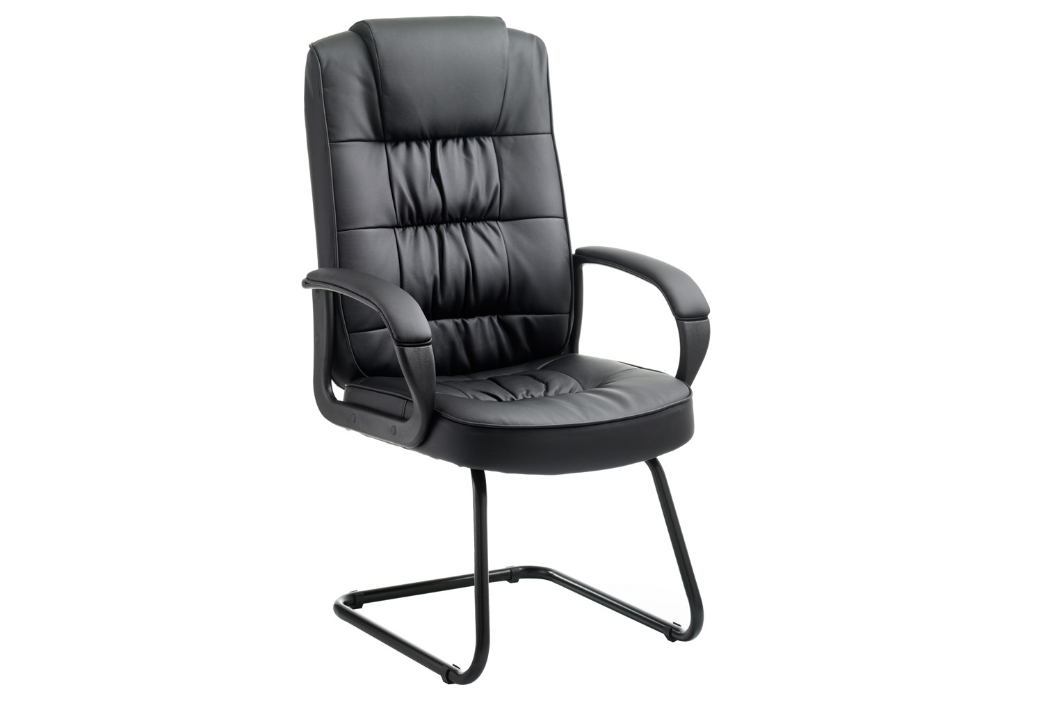 Muscat Leather Faced Visitor Chair