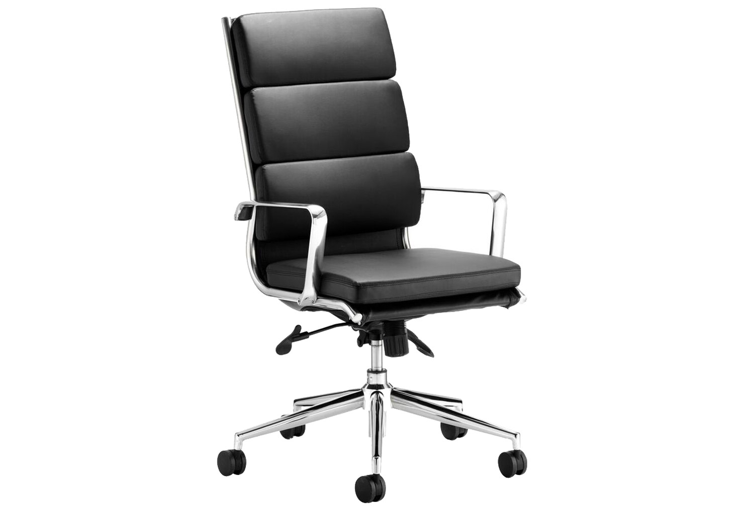 Formosa High Back Black Leather Faced Executive Chair