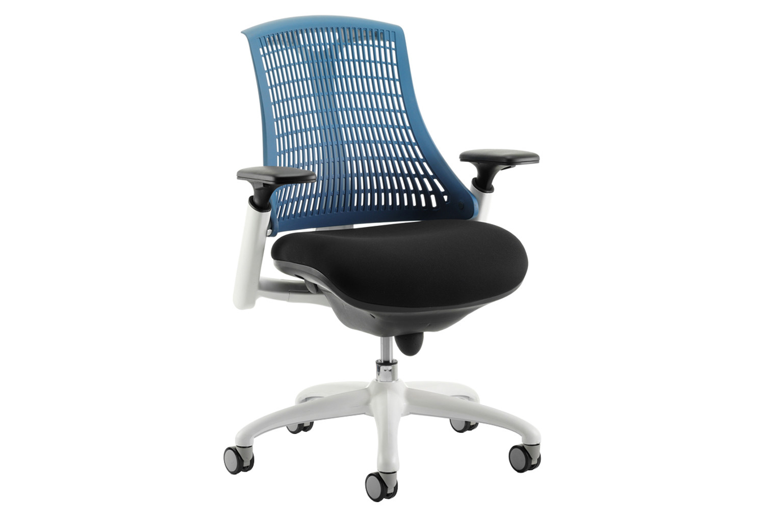 Warp White Frame Blue Mesh Back Operator Chair