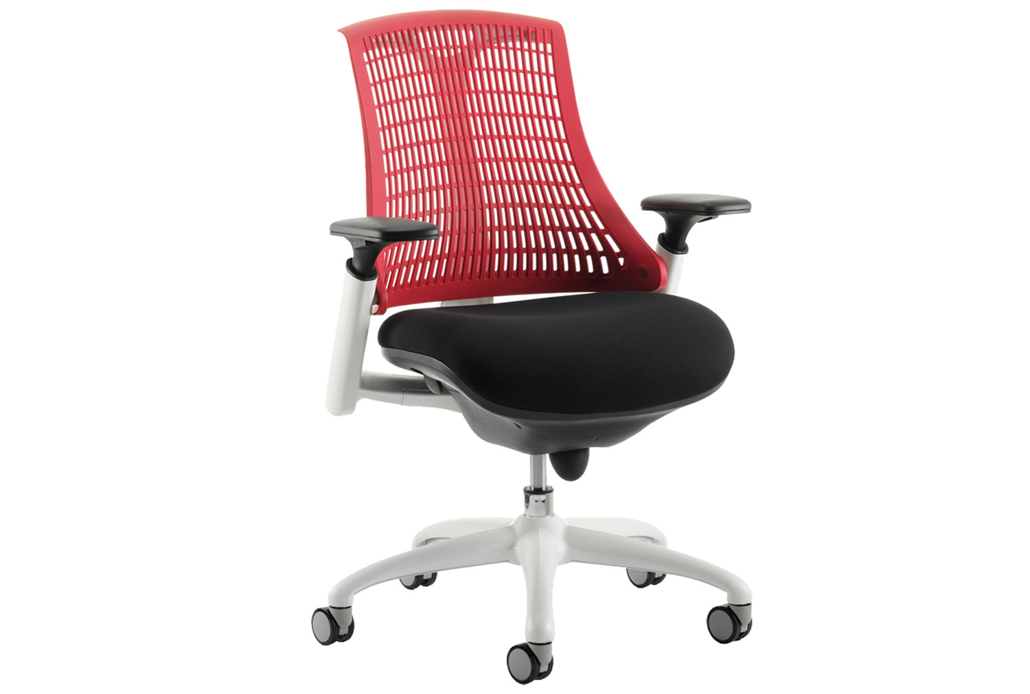 Warp White Frame Red Mesh Back Operator Chair