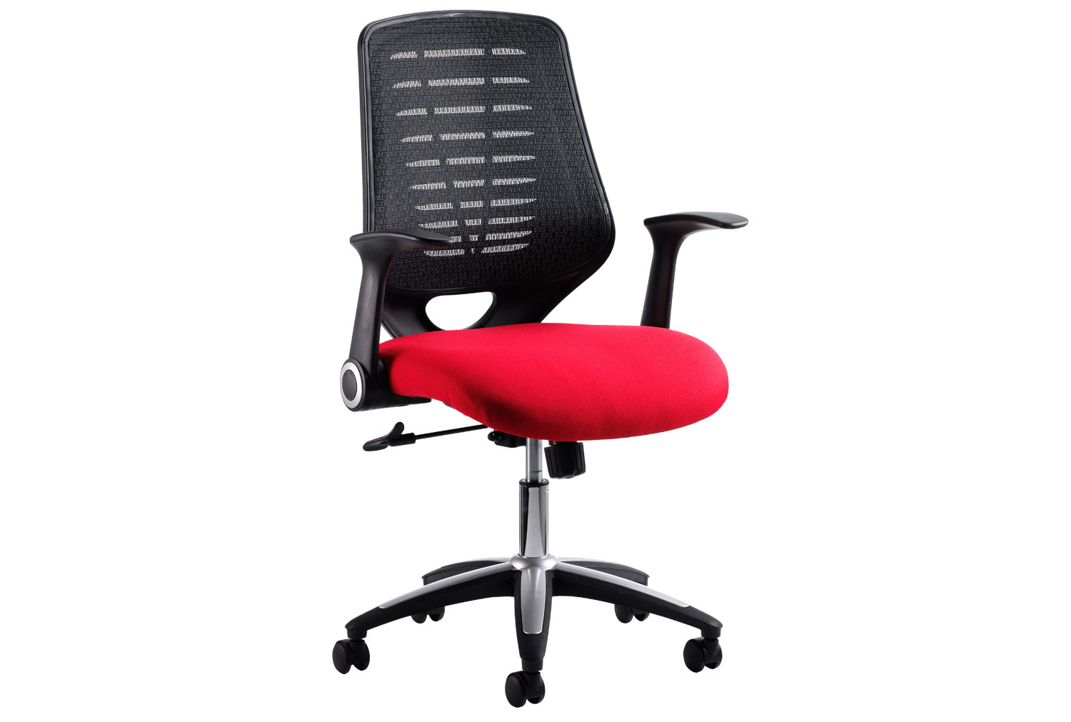Black back / red seat