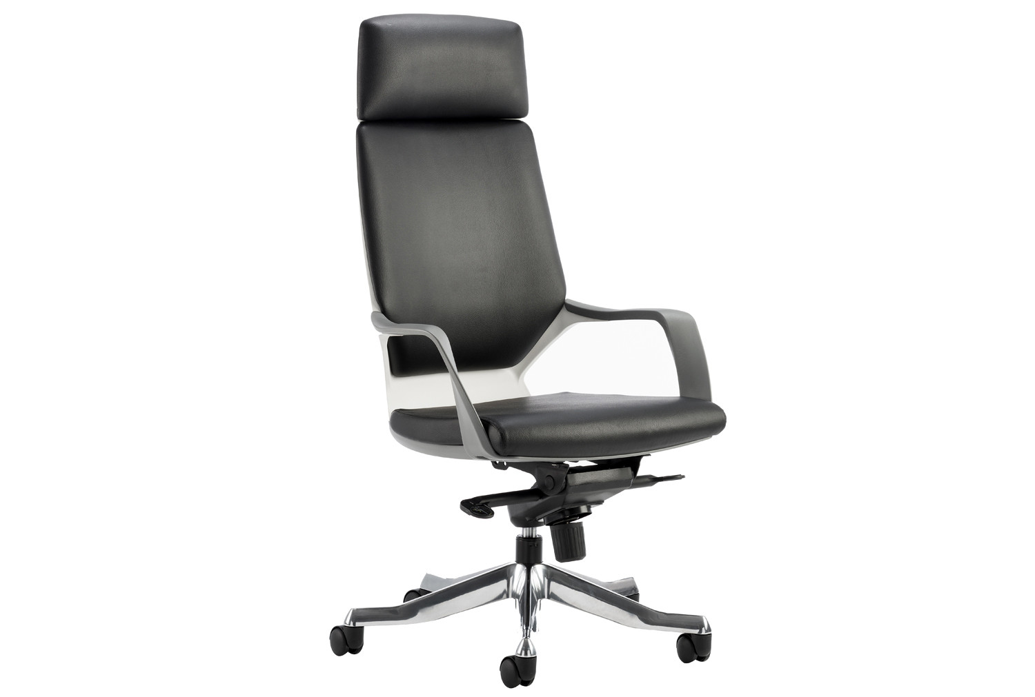 Russo High Back Black Leather Faced Executive Chair