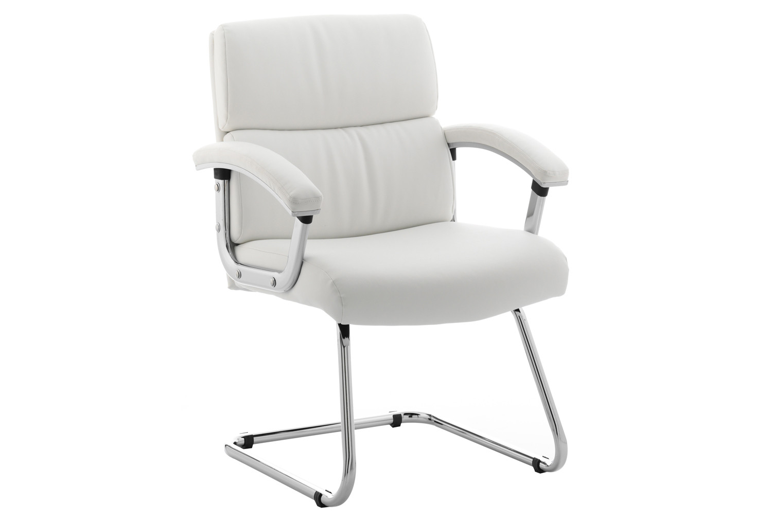 Crave White Leather Faced Visitor Chair