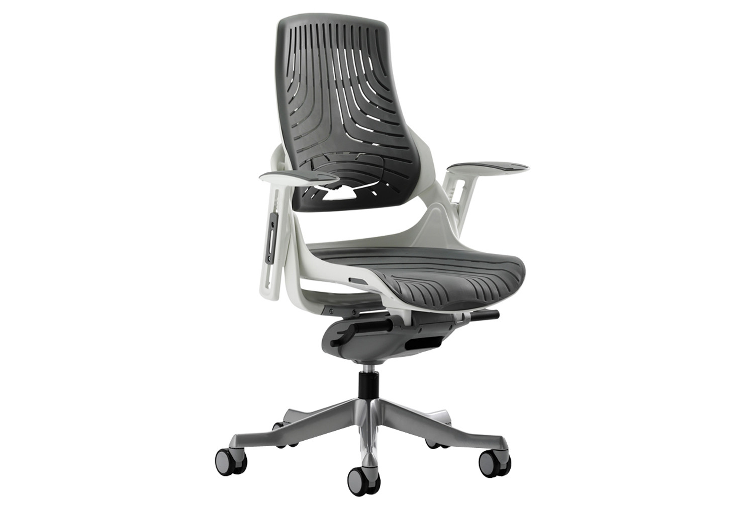Zephyr High Back Grey Executive Operator Chair