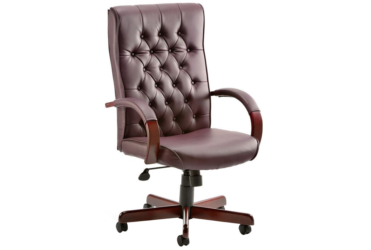 Tronso Traditional Leather Armchair Burgundy