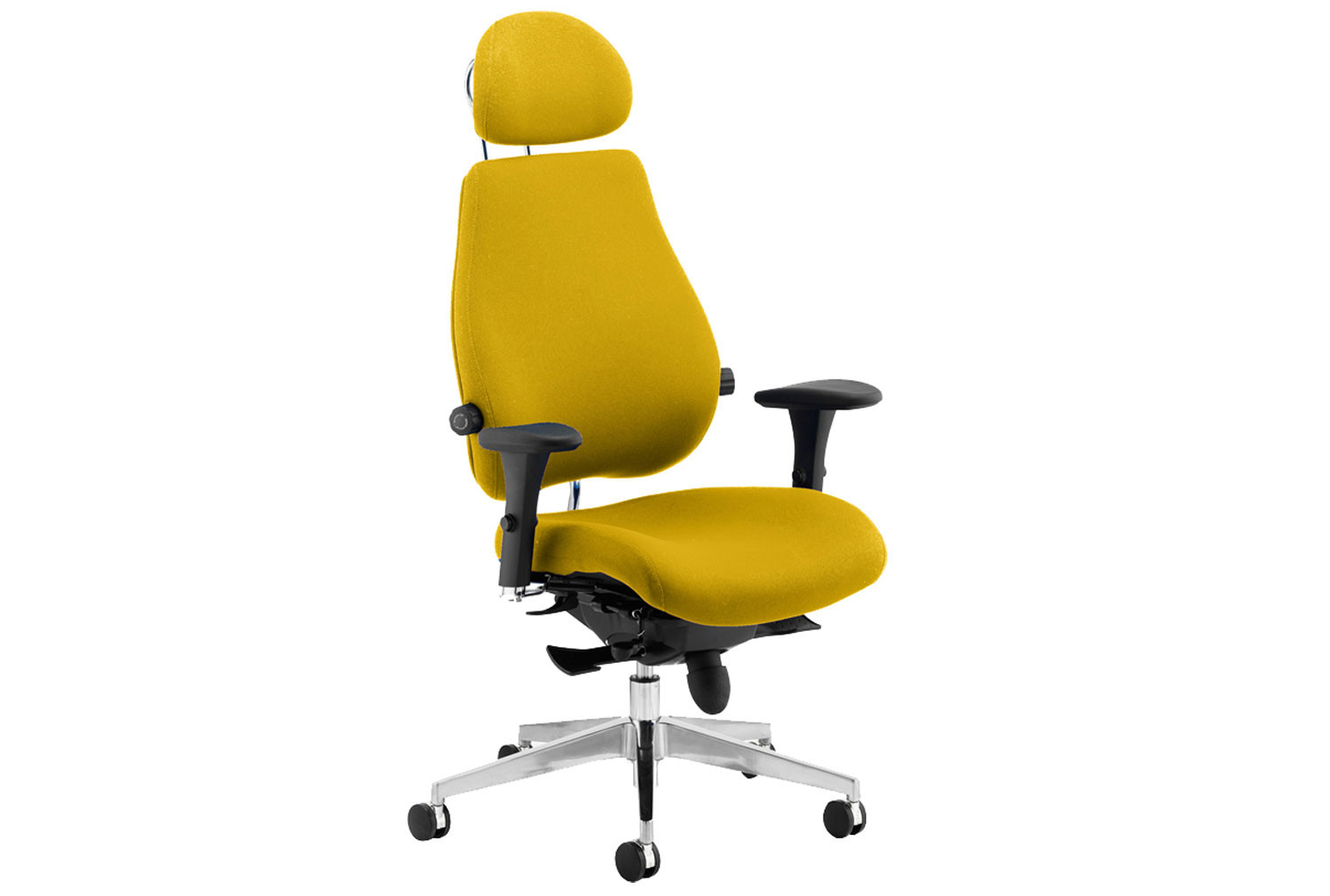 Praktikos Ultimate Fabric Ergonomic Chair With Headrest