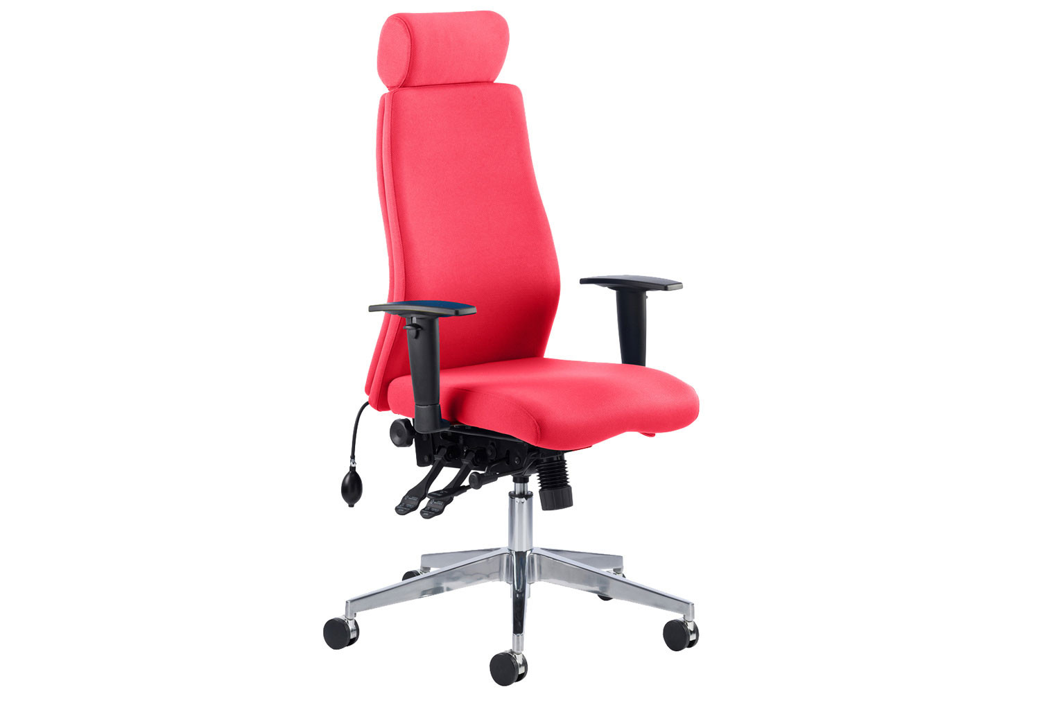 Brechin High Back Fabric Executive Chair With Headrest