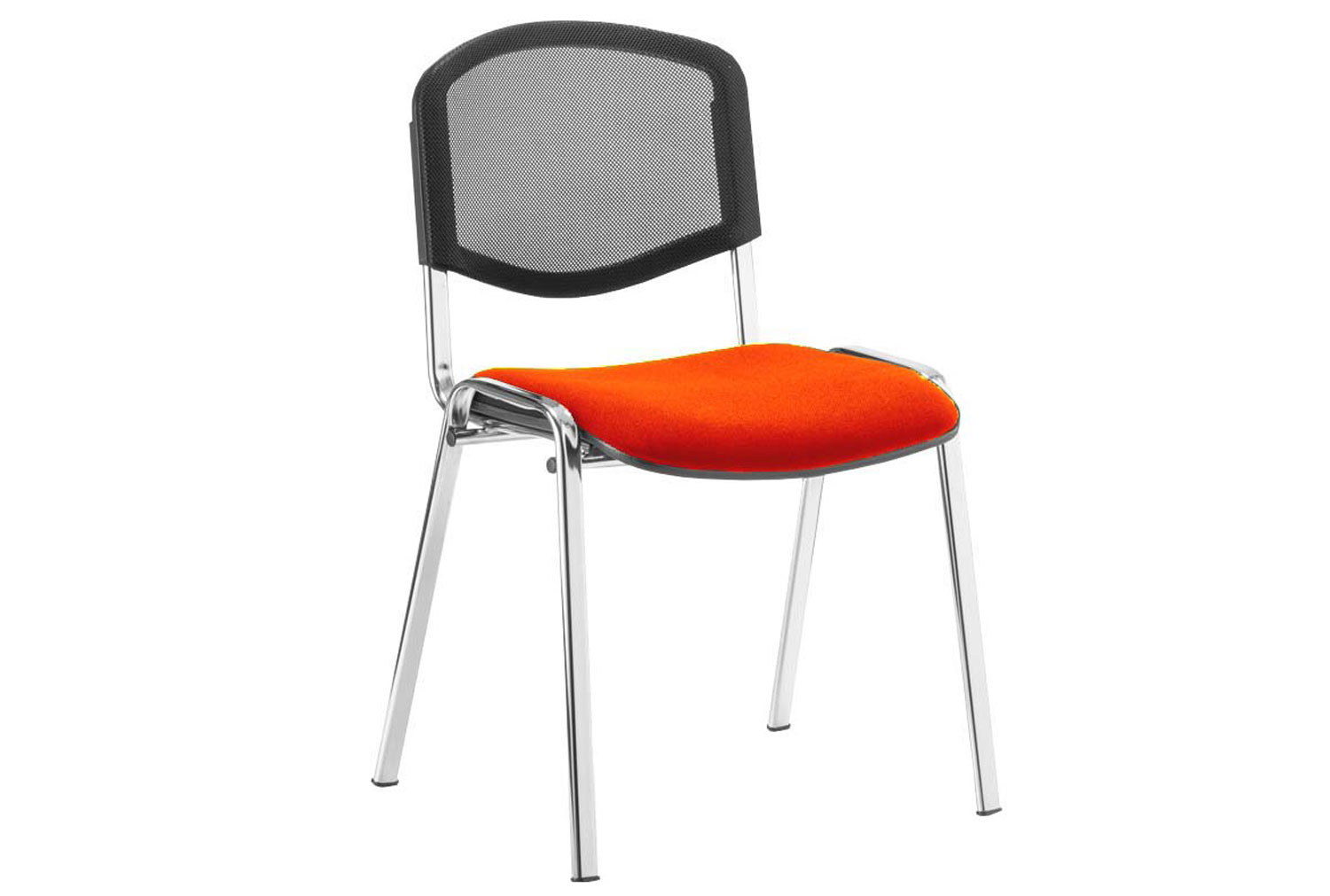 ISO Chrome Frame Mesh Back Conference Chair (Tabasco Red)