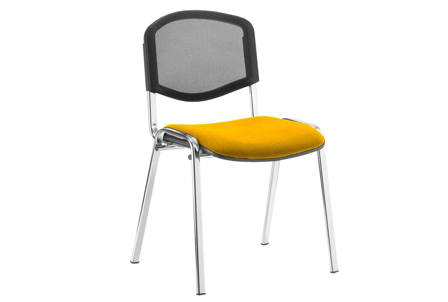 ISO Chrome Frame Mesh Back Conference Chair (Senna Yellow)
