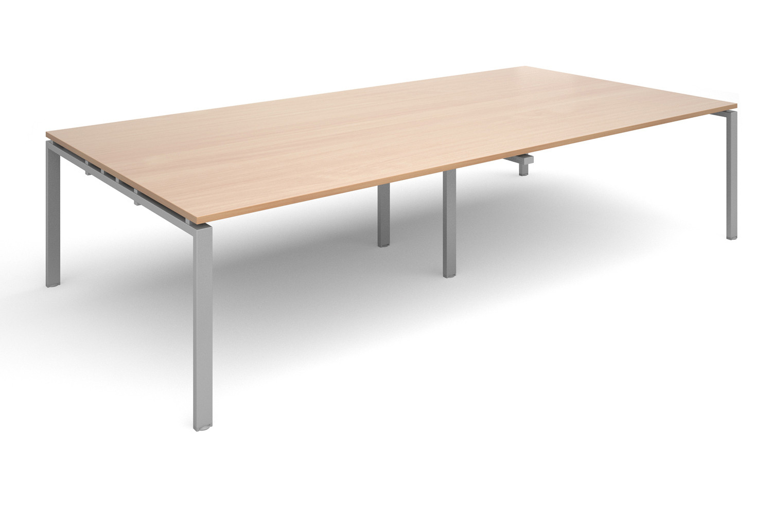 Prime Rectangular Boardroom Table (Silver Legs)
