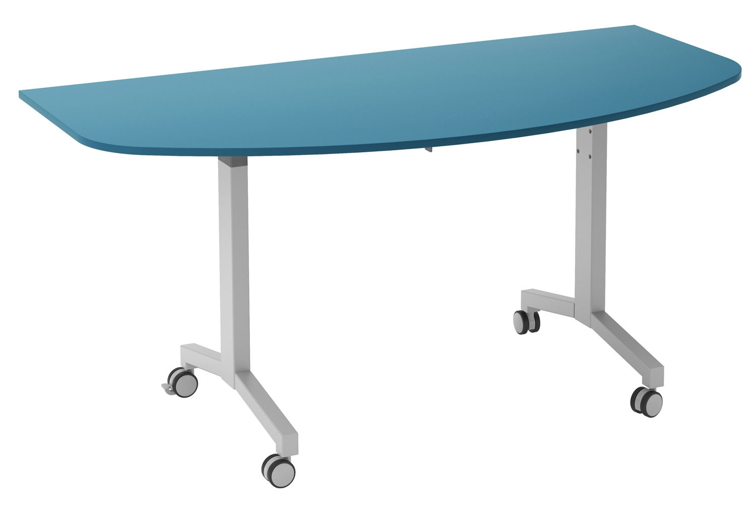 Solero Flip Top D-End Meeting Table (Light Blue)