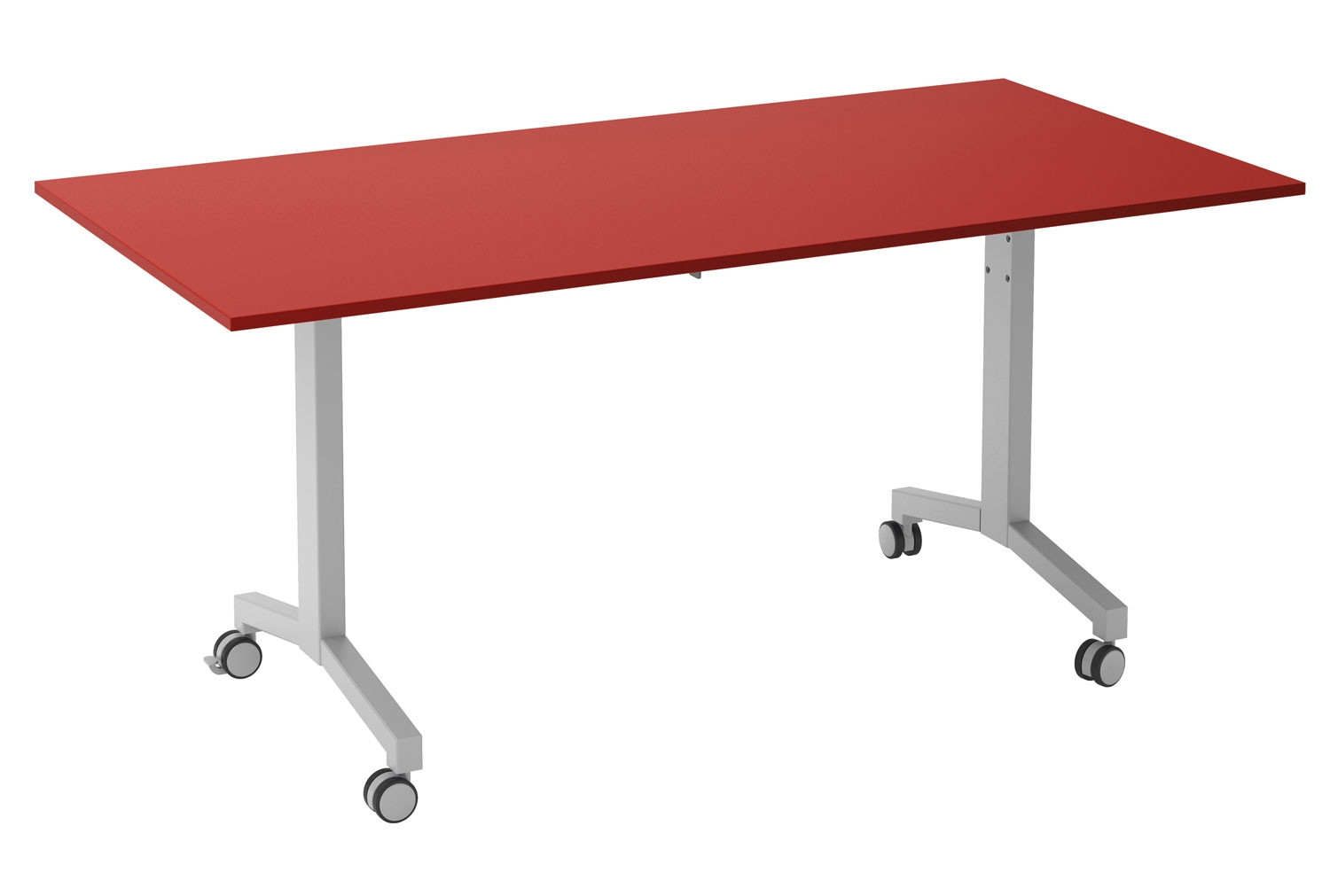 Solero Flip Top Rectangular Meeting Table (Red)