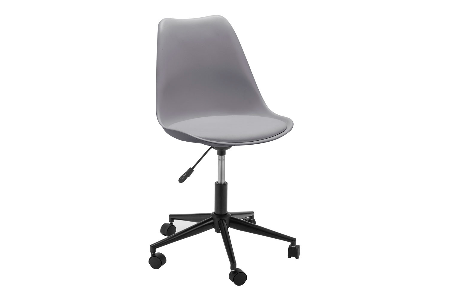 Denning Grey Office Chair with Black Base