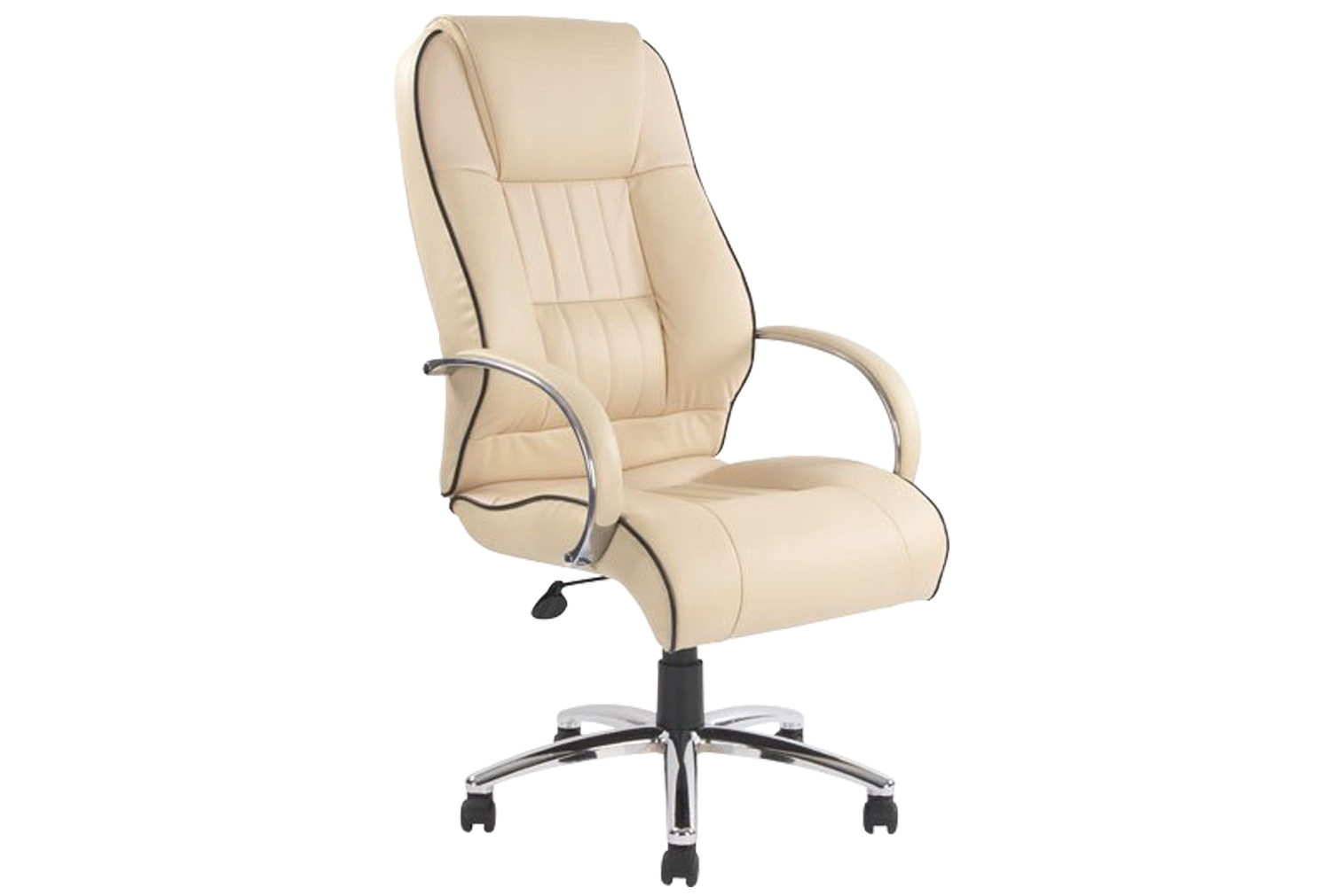 Freya High Back Executive Cream Leather Faced Chair