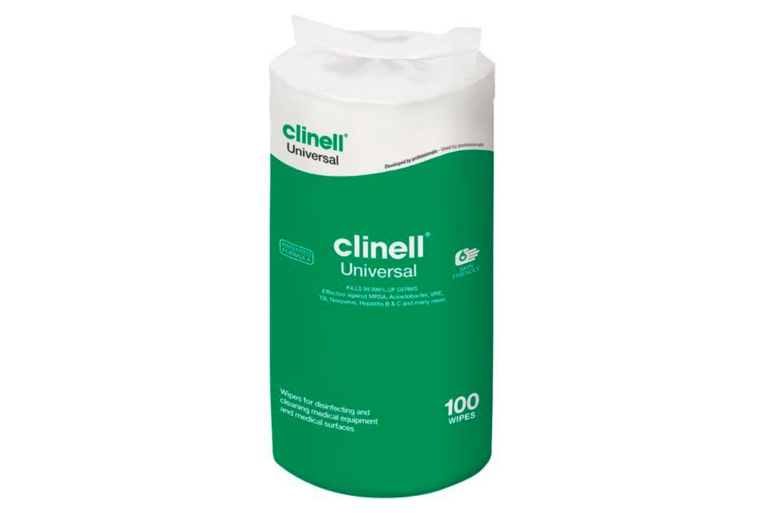 Refill For Clinell Universal Tub Wipes (100 Wipes) - NHS Approved NHSSC VJT224