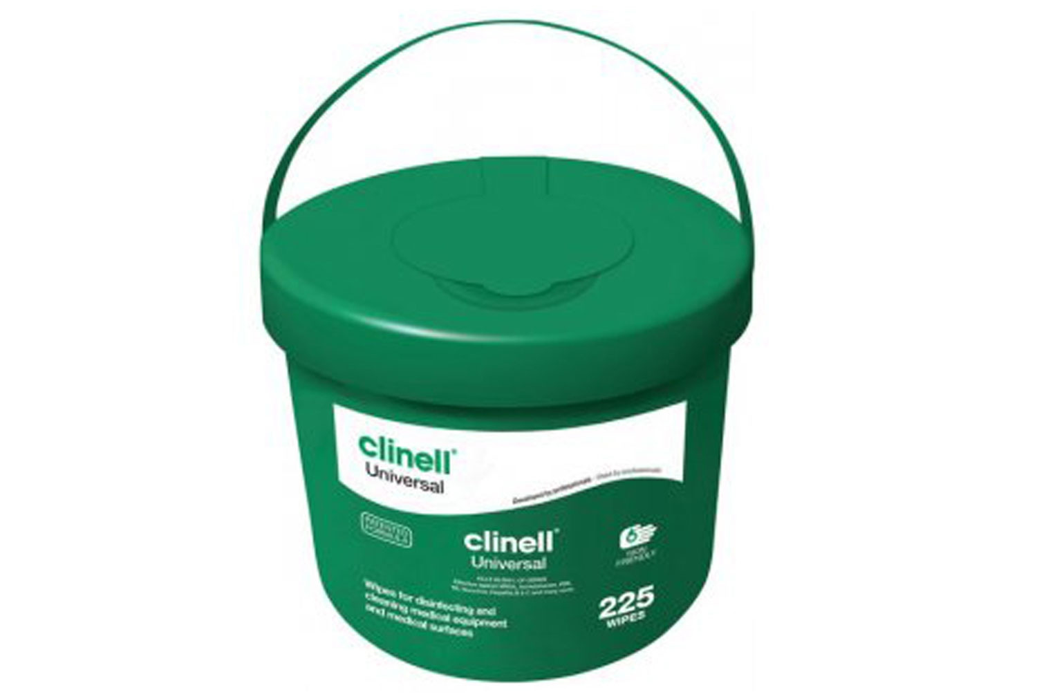 Bucket Of Clinell Universal Wipes (225 Wipes) - NHS Approved NHSSC VJT190