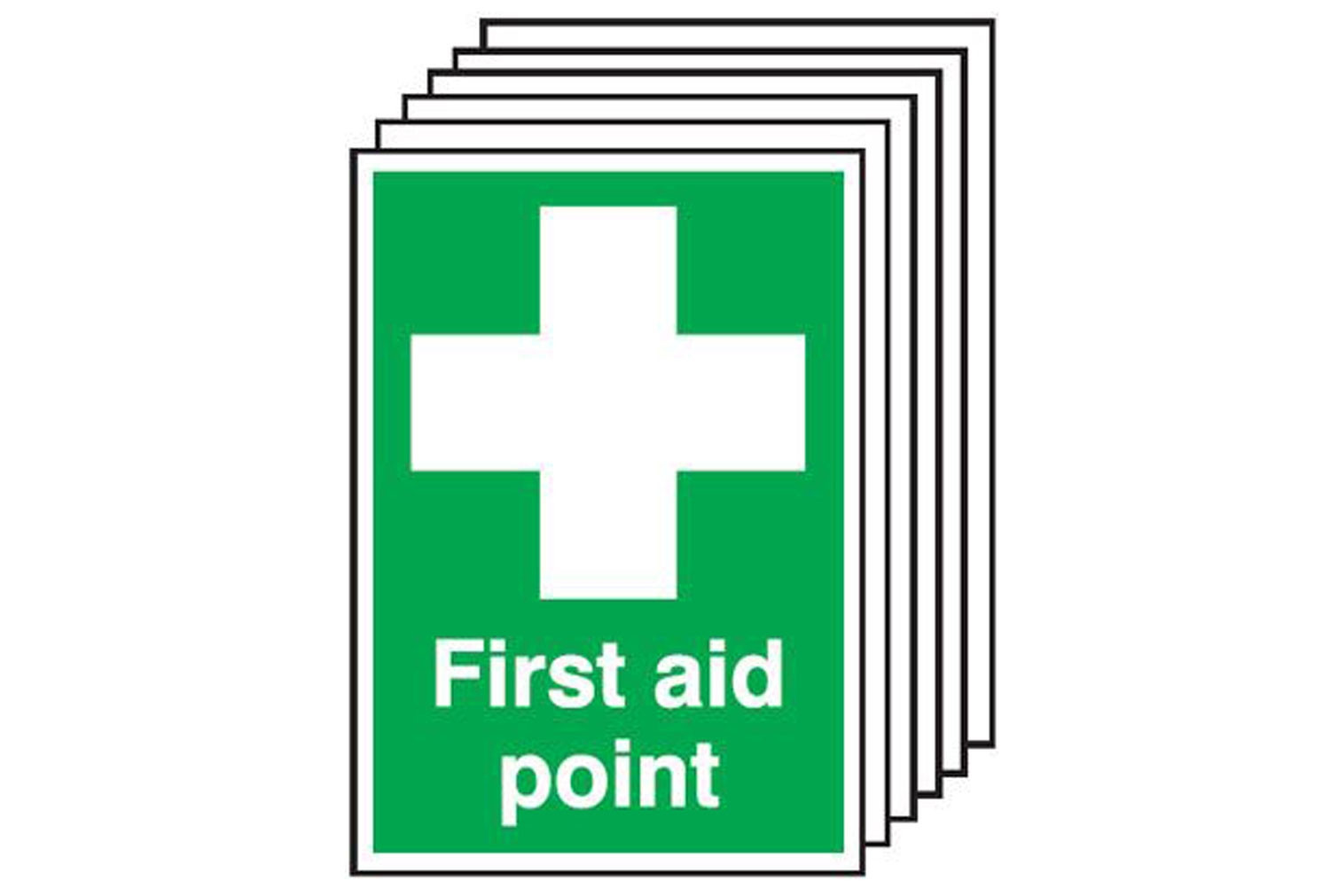 First Aid Point Safety Sign (Multipack)