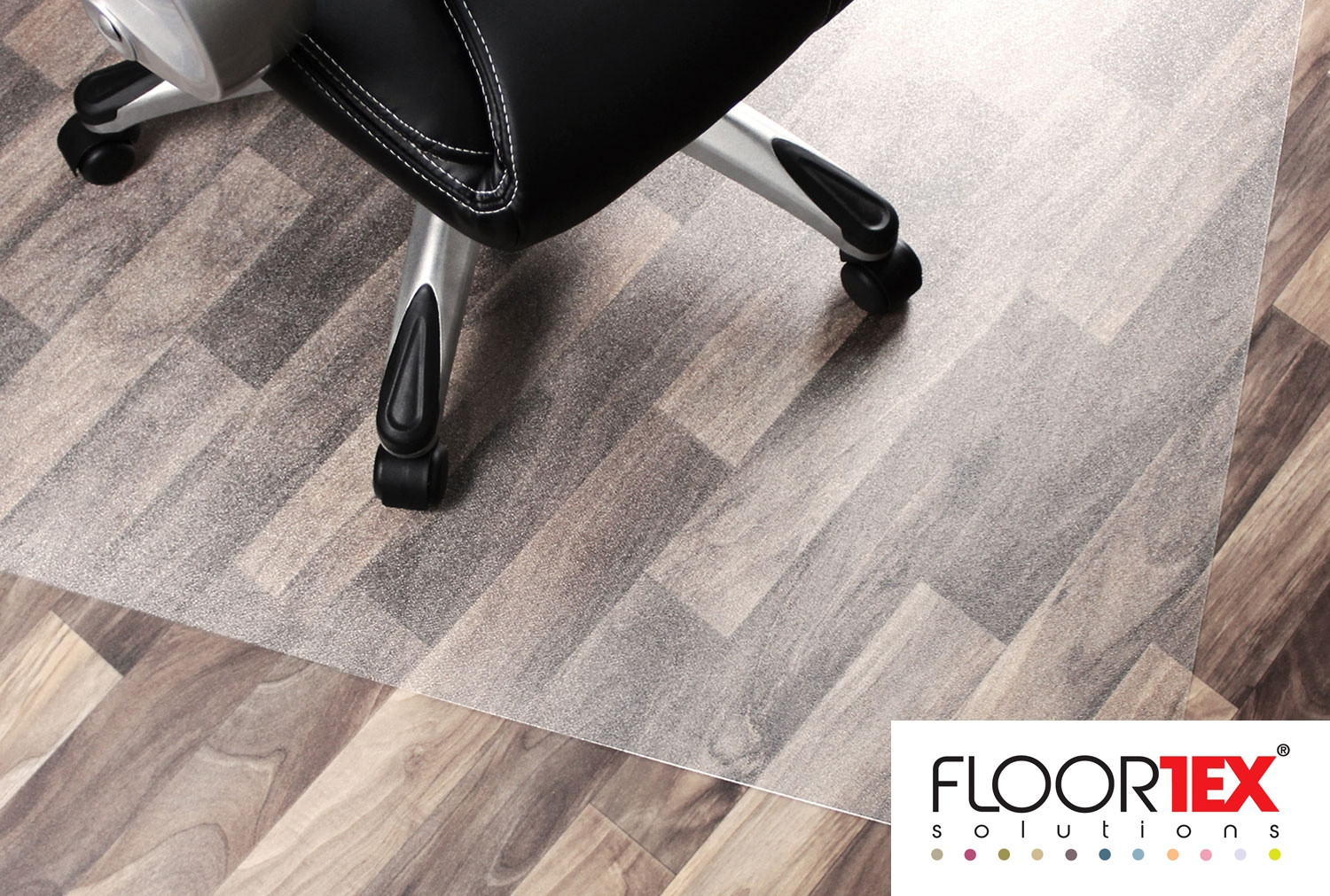 Cleartex Unomat Poly Chair Mat For Carpet Tiles & Hard Floors