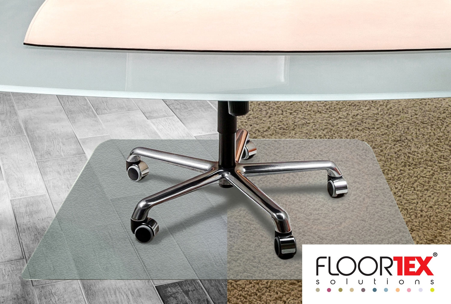 Cleartex Unomat Poly Square Chair Mat For Carpet Tiles & Hard Floors
