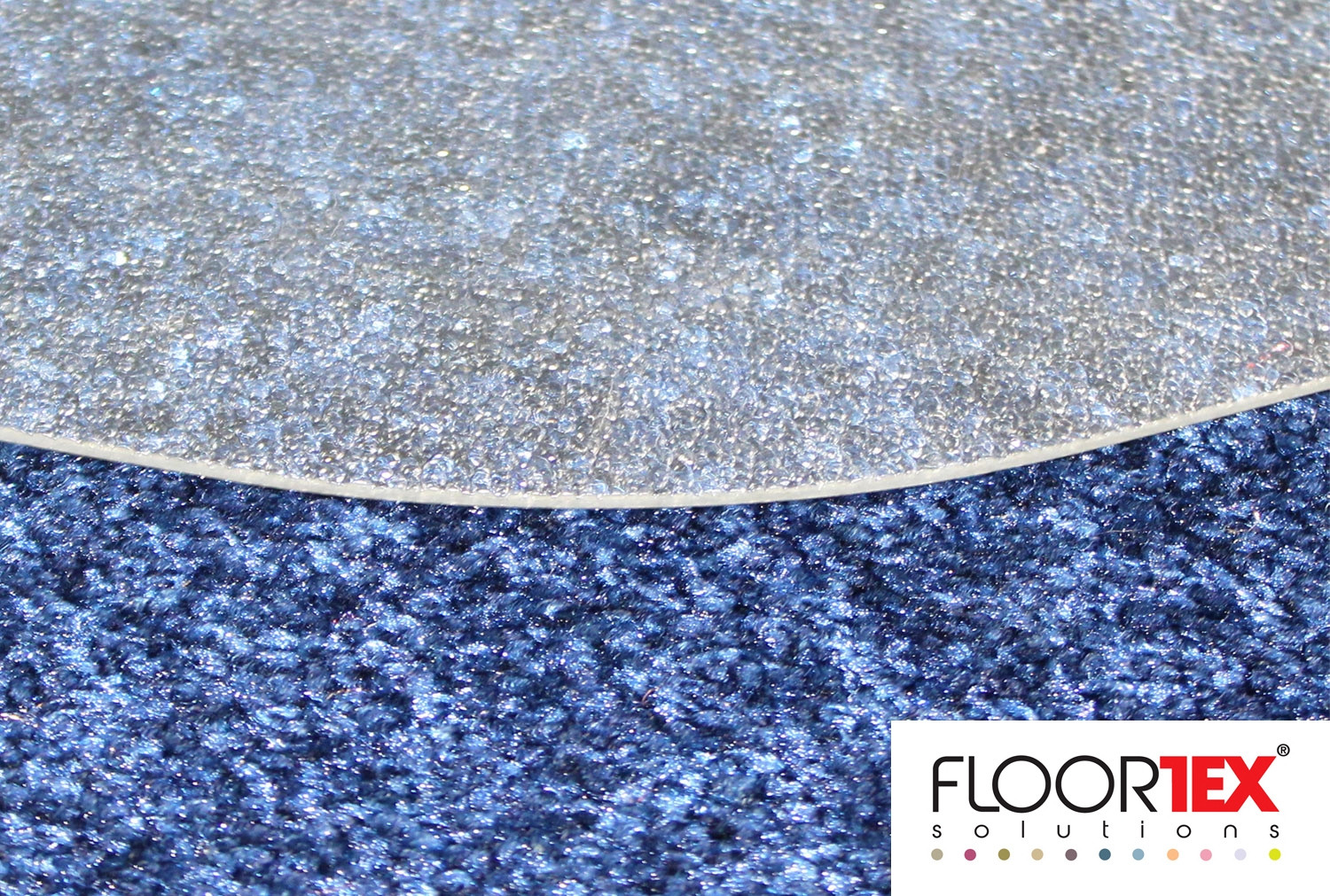 Cleartex Poly Chair Mat For Low & Medium Pile Carpets (Clear)