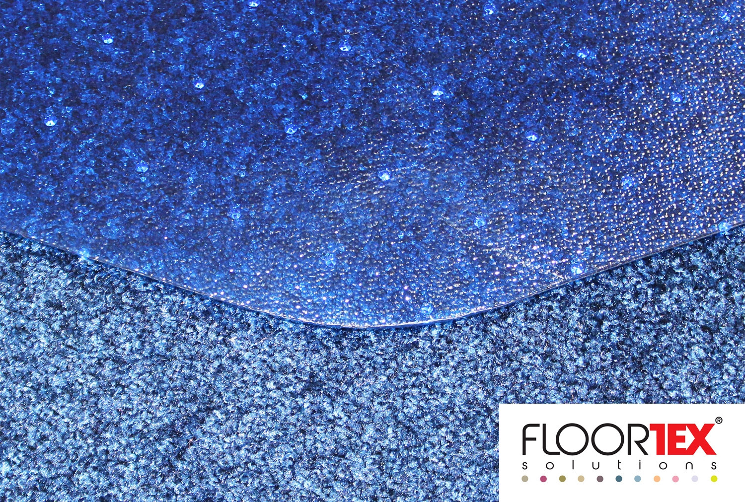 Cleartex Poly Chair Mat For Low & Medium Pile Carpets (Blue)