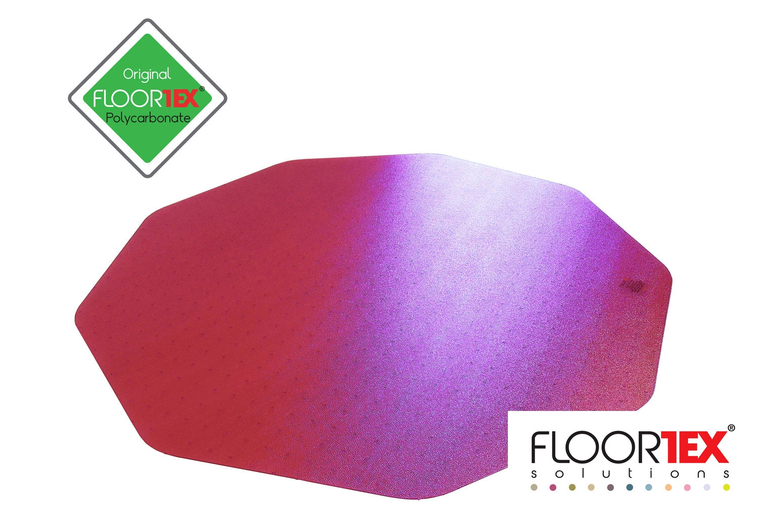 Cleartex Poly Chair Mat For Low & Medium Pile Carpets (Pink)