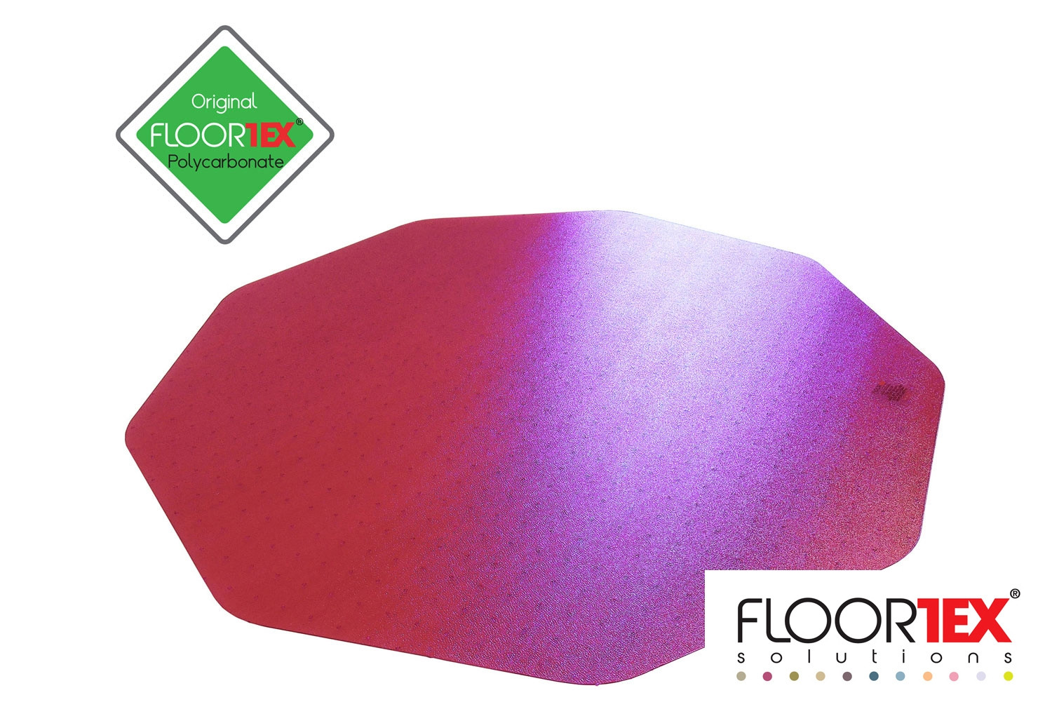 Cleartex Poly Chair Mat For Hard Floors (Pink)
